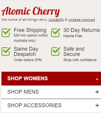Atomic cherry - Best online dress shops in Australia