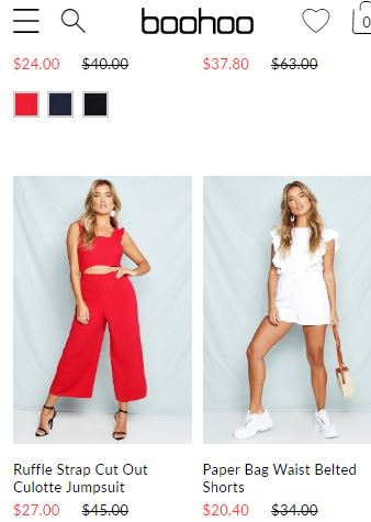 Boohoo - top online clothing website