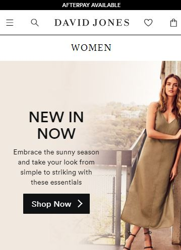 David Jones - top online stores in Australia