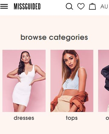 Missguided - best australian clothing store for women