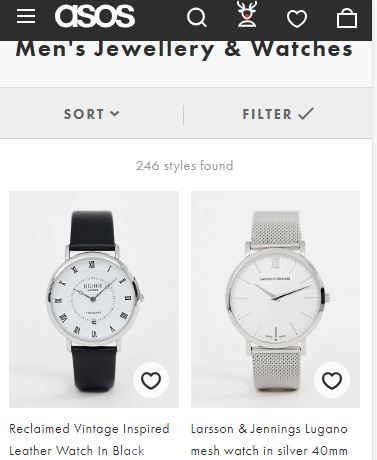 The Asos - good affordable online watch store