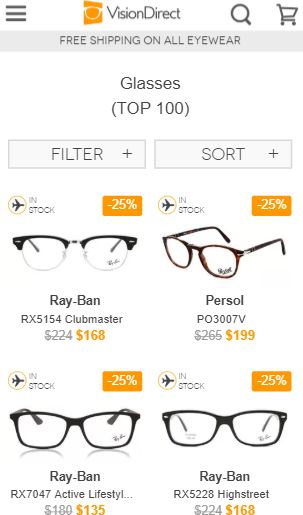 VisionDirect - Best place to buy prescription glasses online in Australia