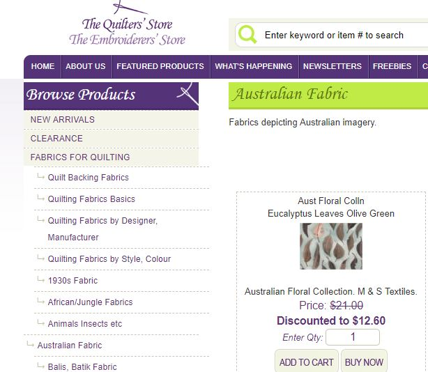 The Quilter's store Australia