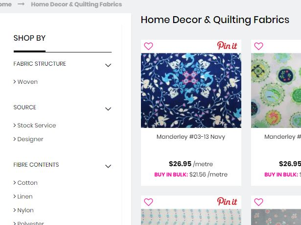The Remnant warehouse online quilt fabric store Australia