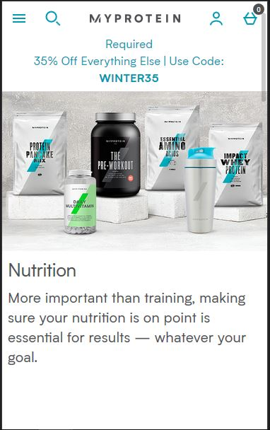 MyProtein - best online supplement store in Australia